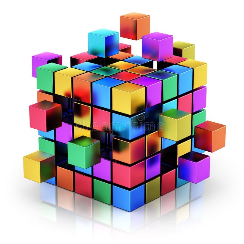 Conc bedrijfsgroepswerk, Internet en mededeling stock illustratie