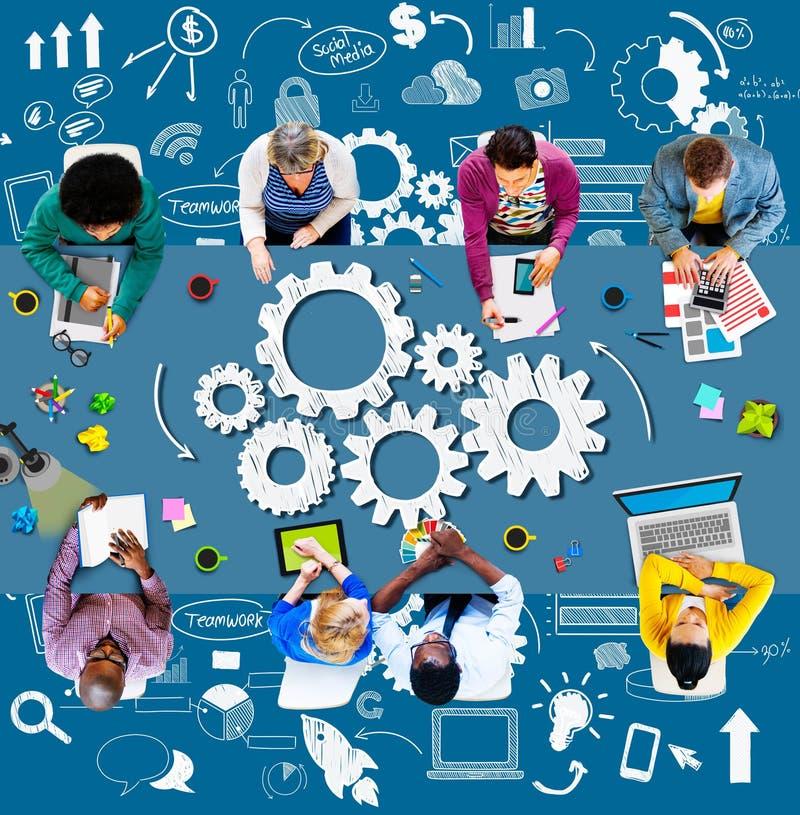 Conc innovation för planläggning för start för strategifunktionsduglighetsaffär royaltyfria foton