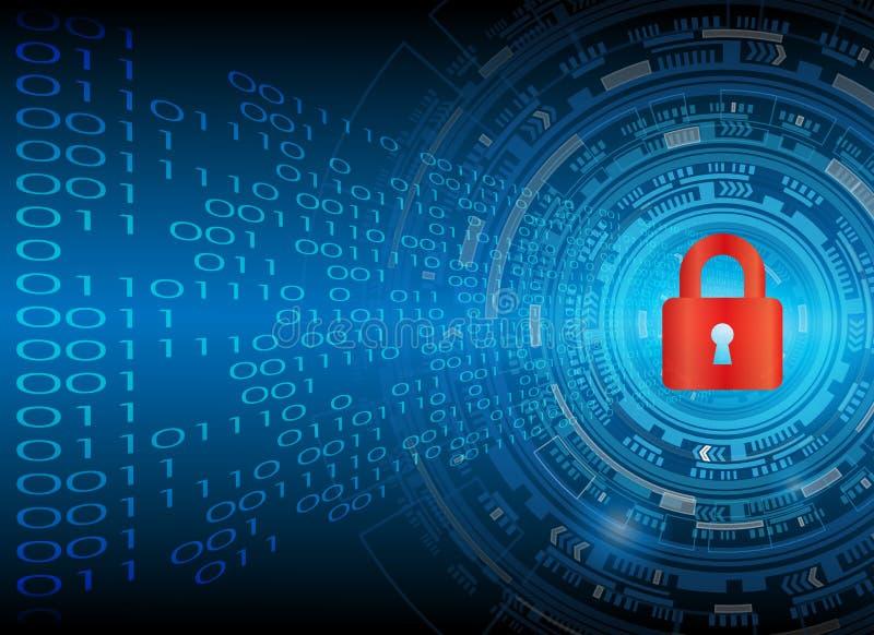 Conce cibernético de la privacidad de la tecnología del negocio de la protección de datos de la seguridad ilustración del vector