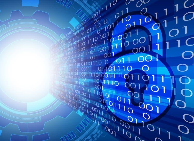 Conce d'intimité de technologie d'affaires de protection des données de sécurité de Cyber illustration de vecteur