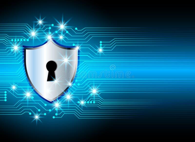 Conce d'intimité de technologie d'affaires de protection des données de sécurité de Cyber illustration stock