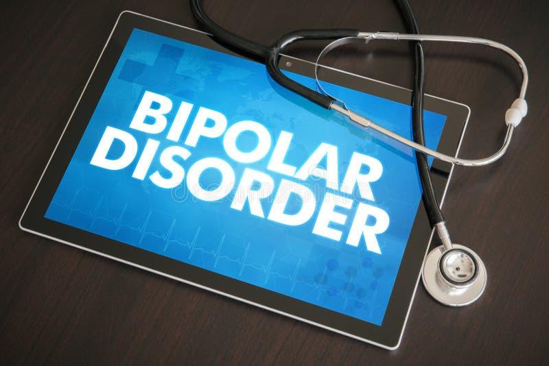 Conce médico do diagnóstico da doença bipolar (desordem neurológica) foto de stock royalty free