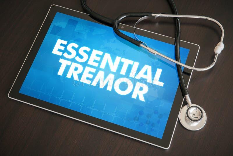 Conce médico do diagnóstico essencial do tremor (desordem neurológica) imagem de stock