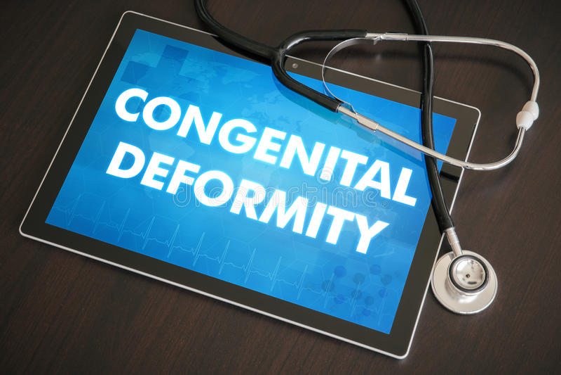 Conce medico di diagnosi congenita di deformità (malattia, disordine) fotografie stock libere da diritti