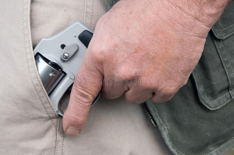 Concealed carry stock image