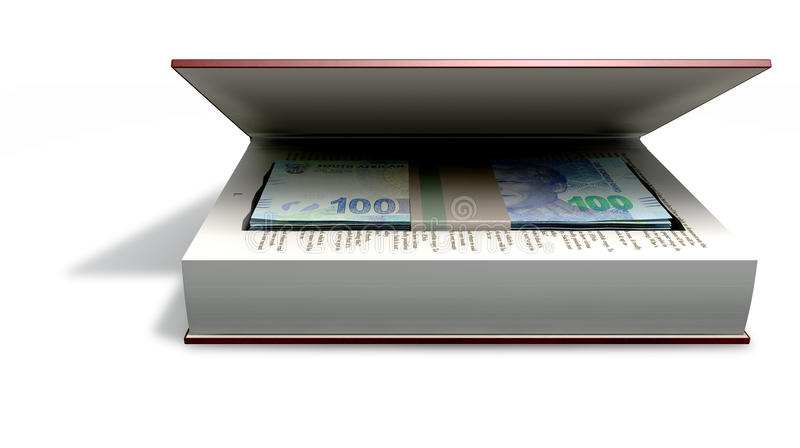 Download Concealed Rands In A Book Front Stock Illustration - Image: 35009224