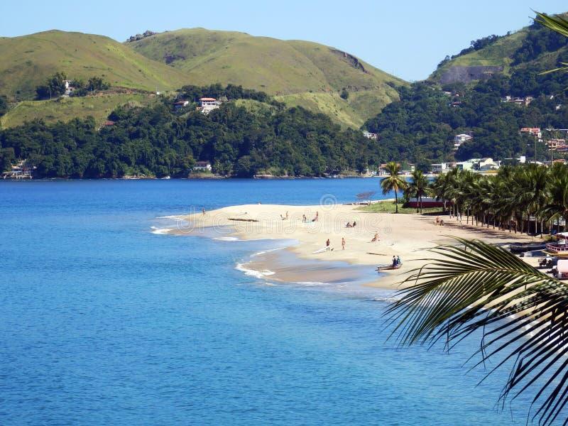 Conceicao de Jacarei Beach in Rio de Janeiro State fotografia stock libera da diritti