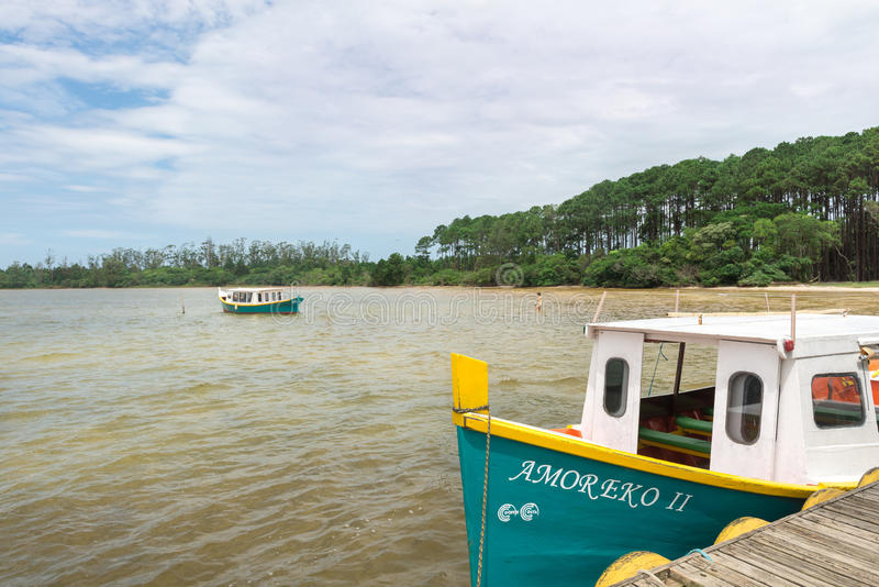 Conceicao lagoon in Florianopolis, Brazil royalty free stock image