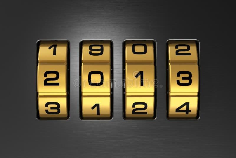 Conceito 2013 do ano novo ilustração stock