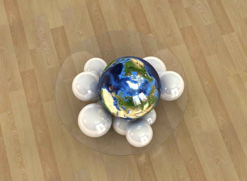 Conceito 3 do globo ilustração royalty free