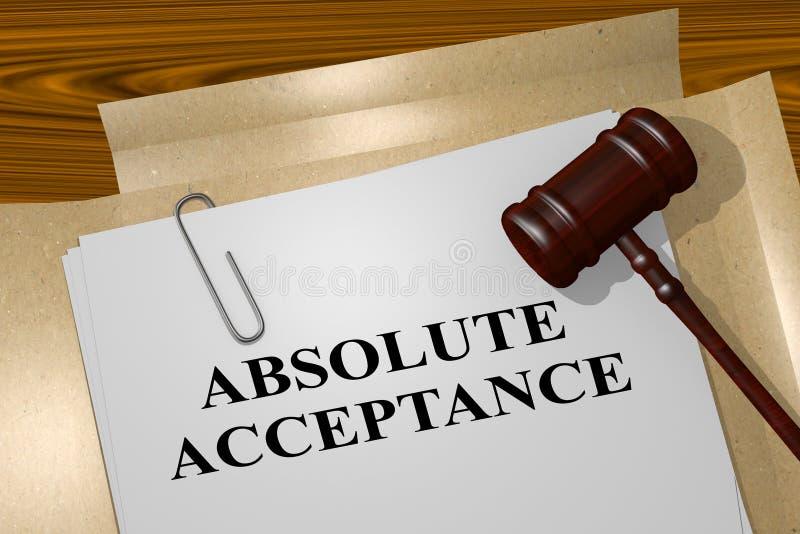 Conceito absoluto da aceitação ilustração do vetor