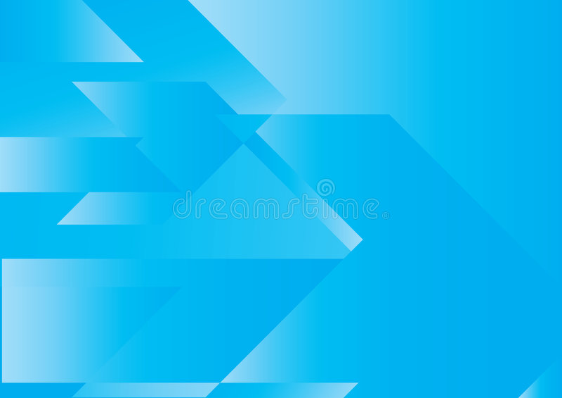Conceito abstrato azul das setas ilustração do vetor