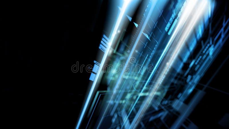 Conceito abstrato da tecnologia complexa ilustração do vetor