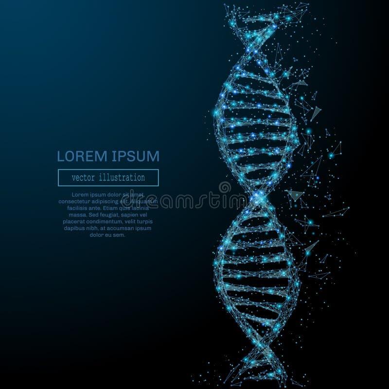 Conceito abstrato do ADN ilustração do vetor