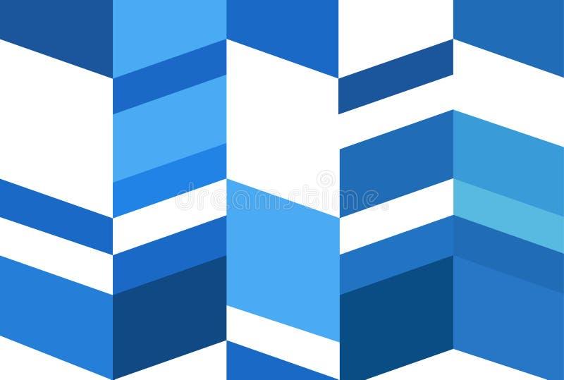 Conceito abstrato do fundo da ilustração, fim acima do teste padrão azul moderno ilustração royalty free