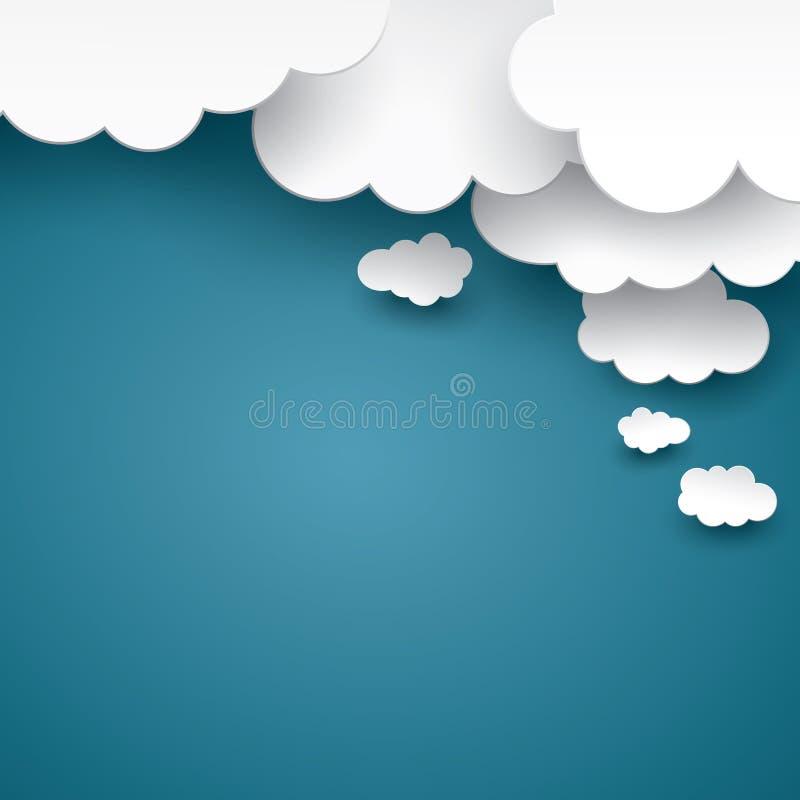Conceito abstrato do fundo da nuvem ilustração do vetor