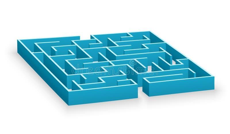 Labirinto azul ilustração royalty free