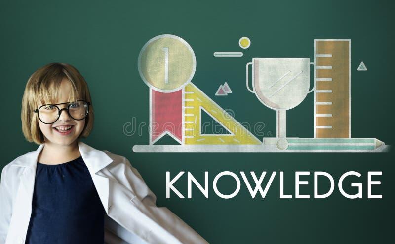 Conceito acadêmico da educação da sabedoria da instrução do conhecimento fotografia de stock royalty free