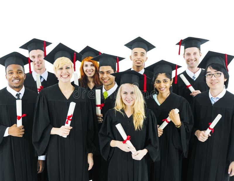 Conceito acadêmico do conhecimento graduado da borla da graduação fotografia de stock royalty free
