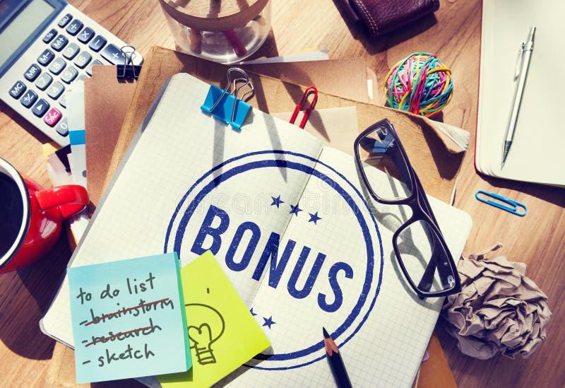 Conceito adicional Incentive da compensação do lucro premiado do bônus imagem de stock royalty free