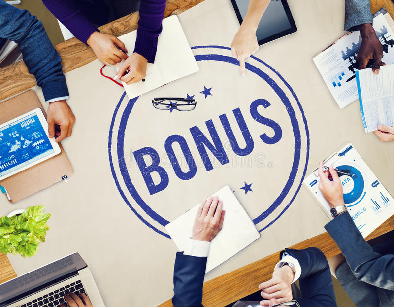 Conceito adicional Incentive da compensação do lucro premiado do bônus imagem de stock