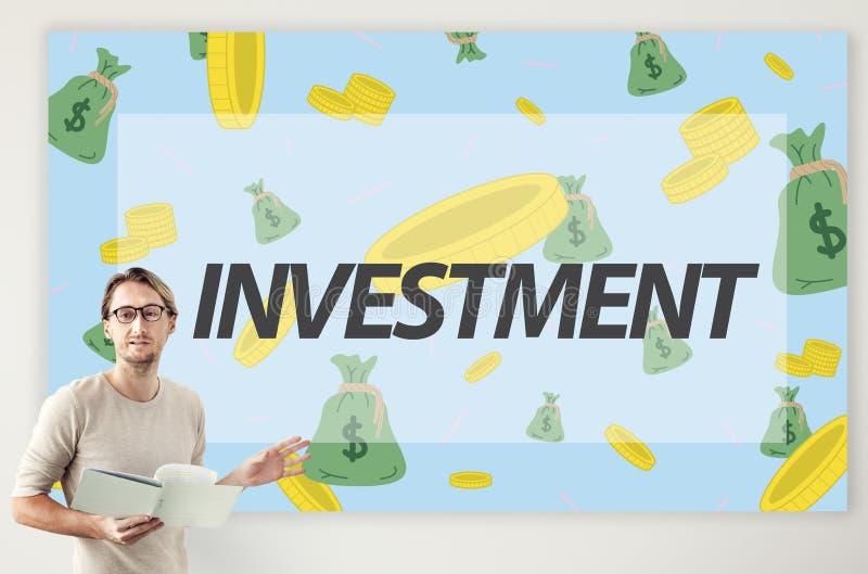Conceito afluente do investimento do acesso da economia da finança imagens de stock royalty free