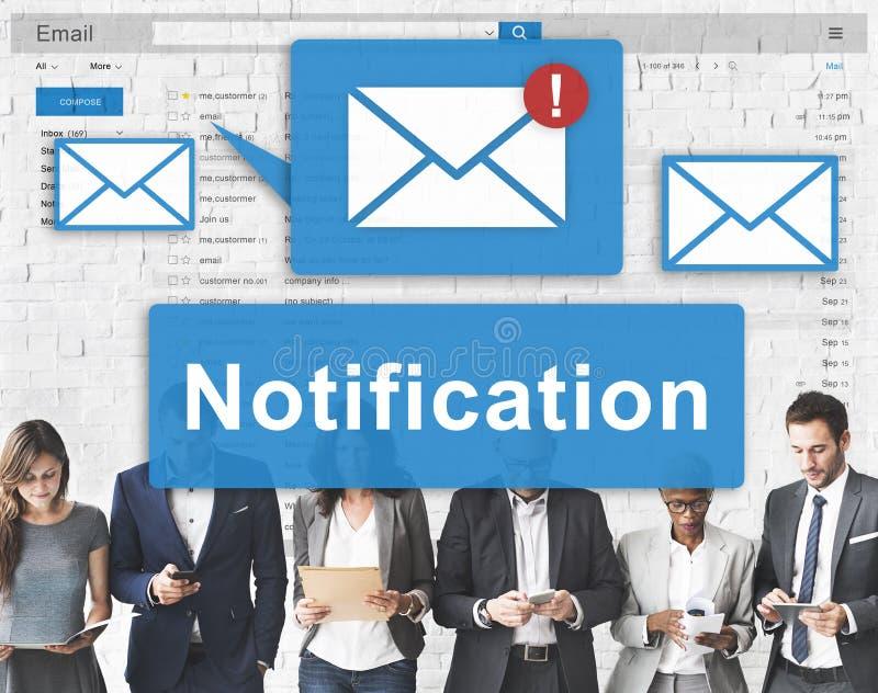Conceito alerta do Internet do ícone de Digitas da notificação imagens de stock royalty free