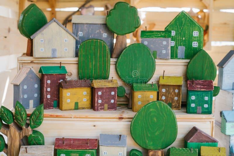 Conceito ambiental e da construção Casas de madeira na costa, língua de terra, Florida, E imagens de stock