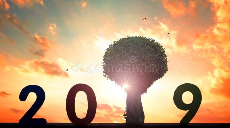 Conceito ambiental novo: esperança nova em 2019 imagens de stock