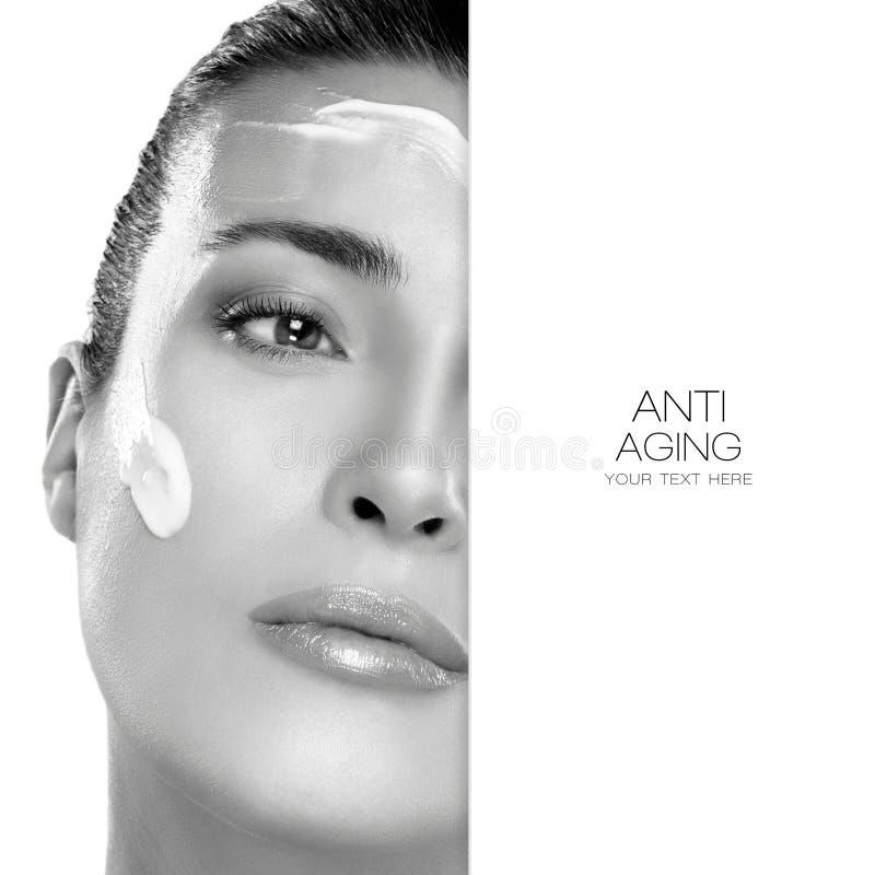 Conceito antienvelhecimento e da beleza Termas - 7 projeto do molde fotografia de stock royalty free