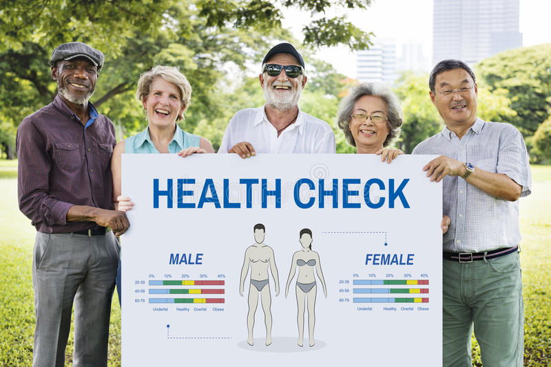 Conceito anual da biologia do corpo do controle do exame médico completo imagens de stock
