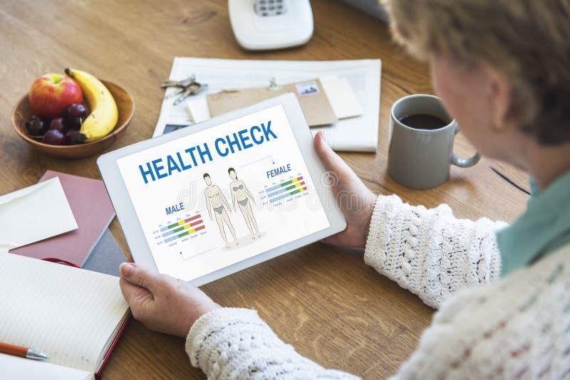 Conceito anual da biologia do corpo do controle do exame médico completo fotografia de stock royalty free