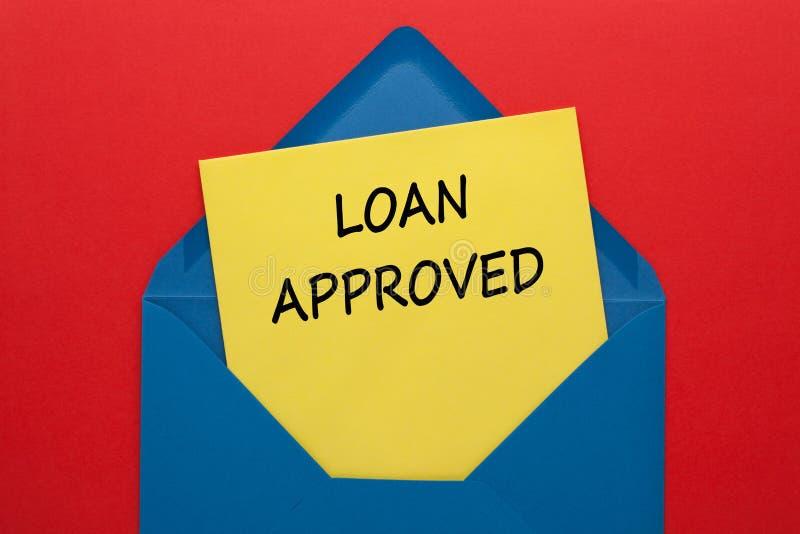 Conceito aprovado do empr?stimo ilustração do vetor