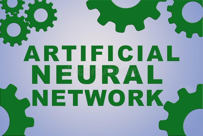 Conceito artificial da rede neural ilustração do vetor