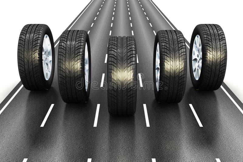 Conceito automotriz ilustração do vetor