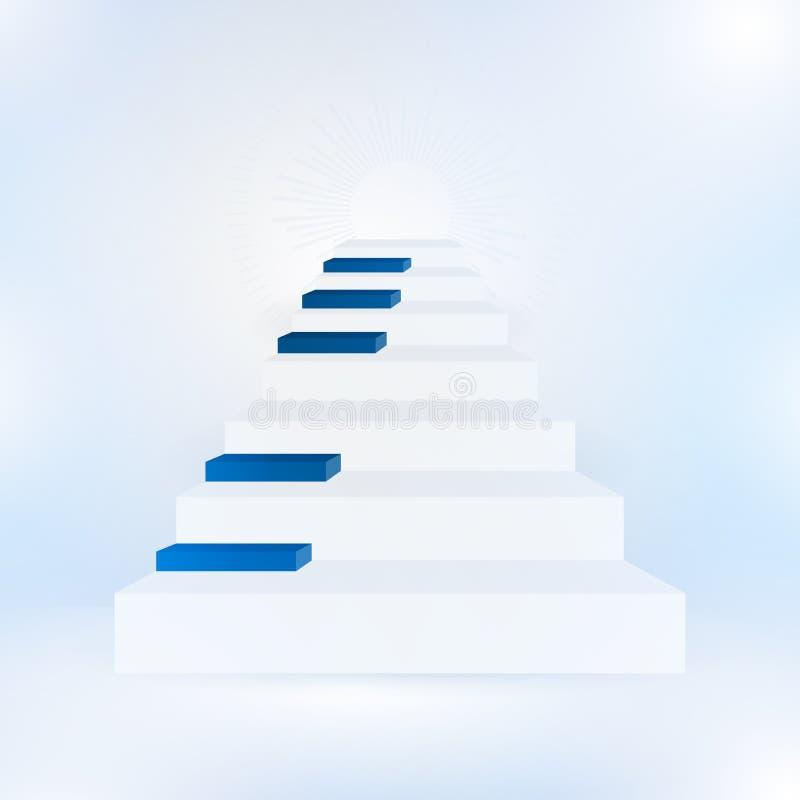 Conceito azul da música com o piano no fundo branco ilustração stock