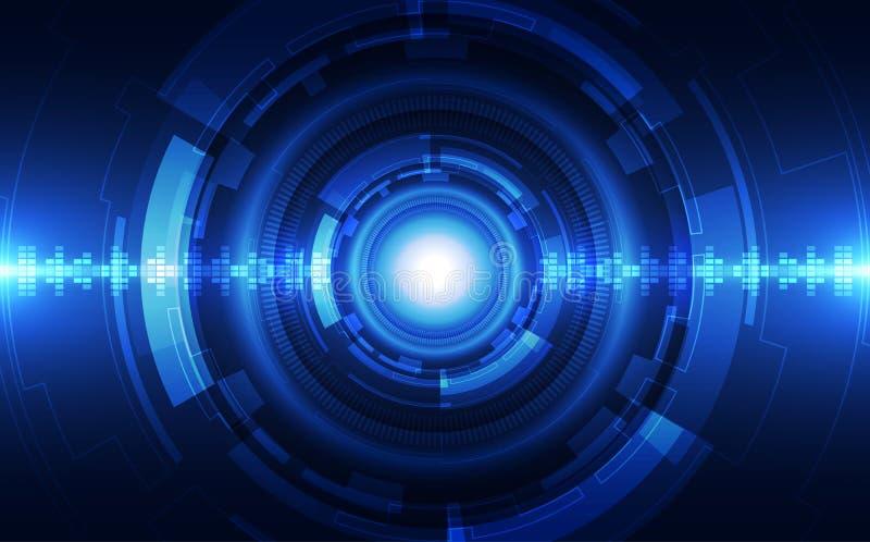 Conceito azul da tecnologia do vetor abstrato Ilustração do vetor do fundo ilustração do vetor