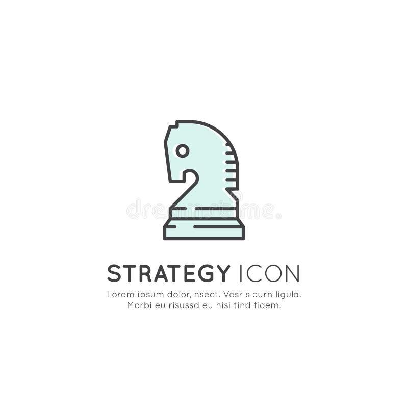 Conceito bem sucedido da gestão empresarial da estratégia ilustração do vetor