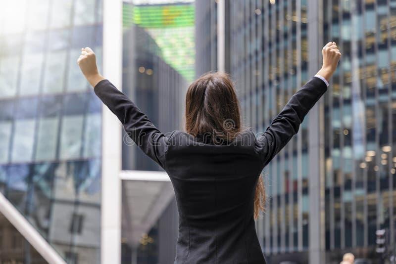 Conceito bem sucedido da mulher de negócio fotos de stock royalty free