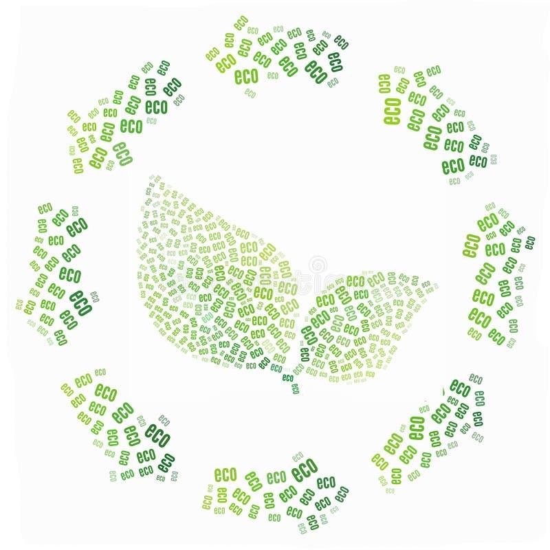 Conceito bio e de Eco do ícone ilustração royalty free
