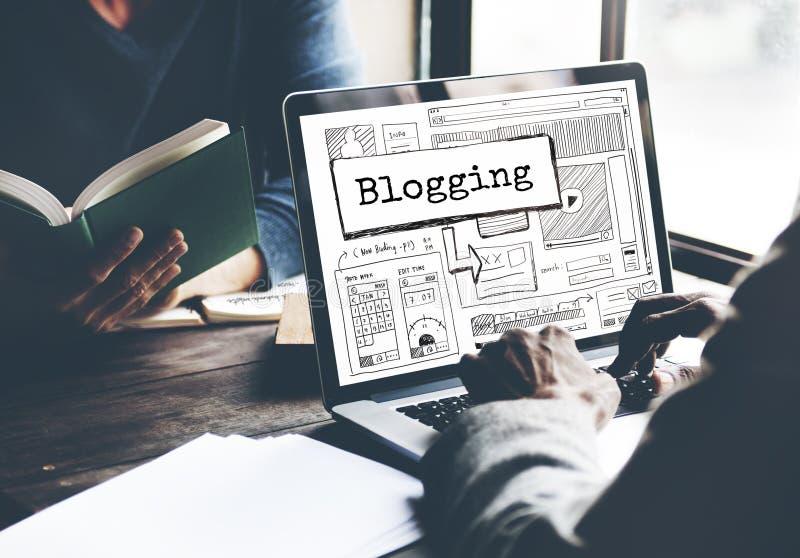 Conceito Blogging da conexão de uma comunicação do negócio imagem de stock royalty free
