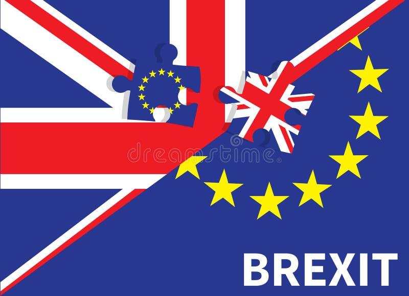 Conceito BRITÂNICO do referendo da UE de Brexit ilustração royalty free