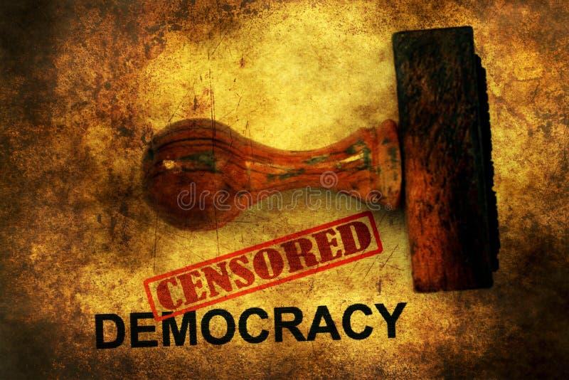 Conceito censurado do grunge da democracia imagens de stock