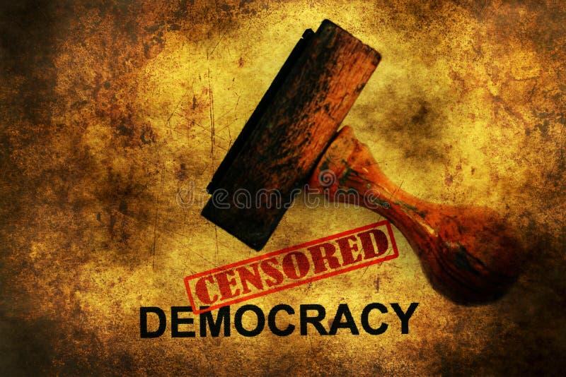 Conceito censurado do grunge da democracia imagem de stock