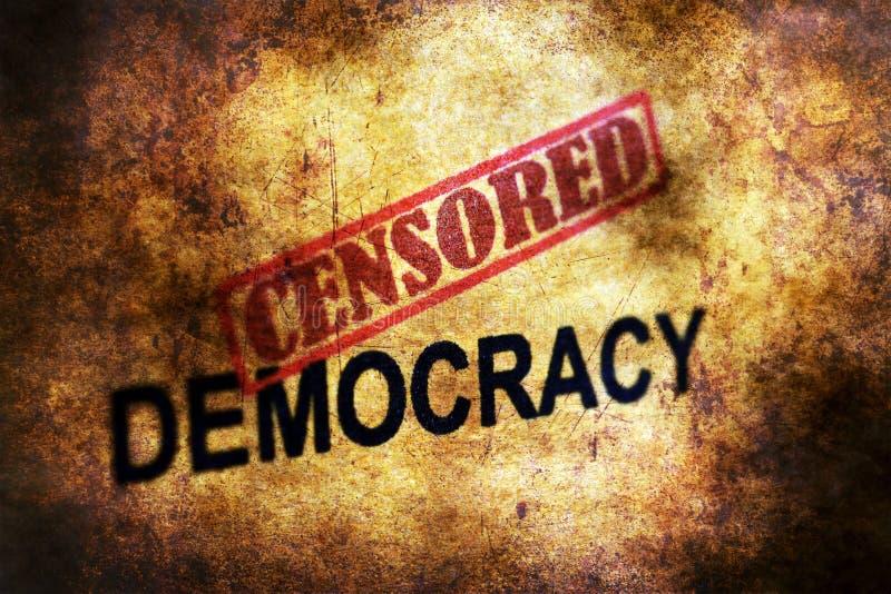 Conceito censurado do grunge da democracia fotografia de stock royalty free