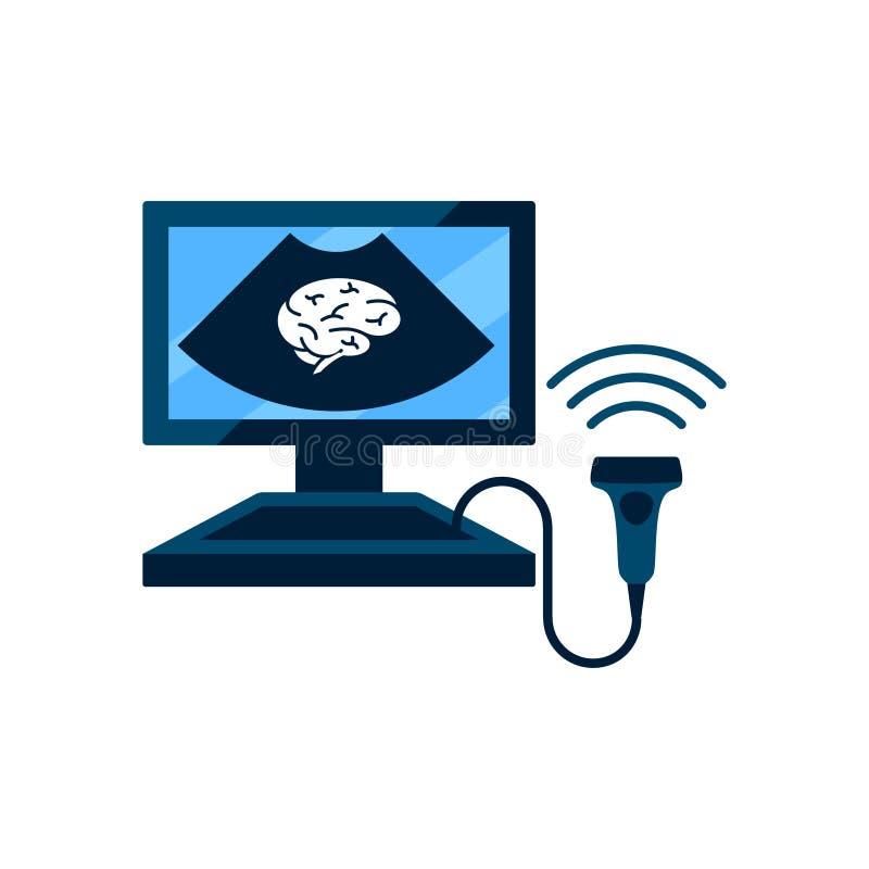 Conceito cerebral do ultrassom das embarcações ilustração stock