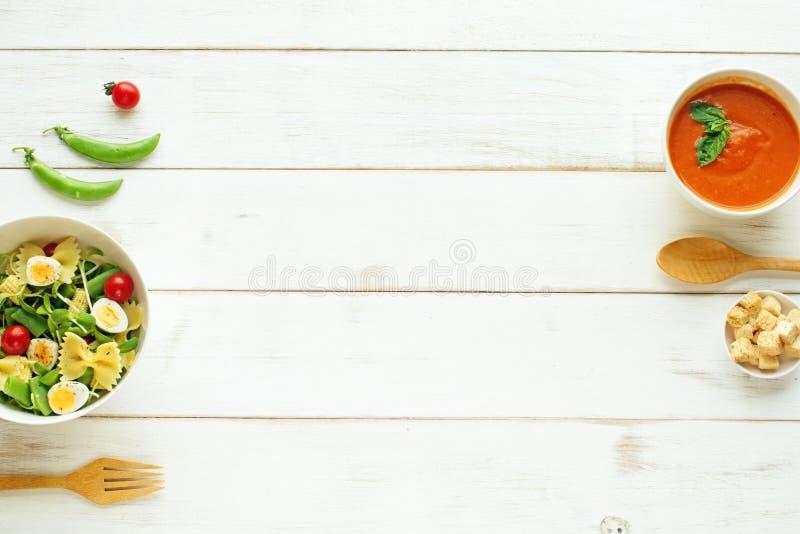 Conceito claro da refeição do verão Copie o espaço imagens de stock