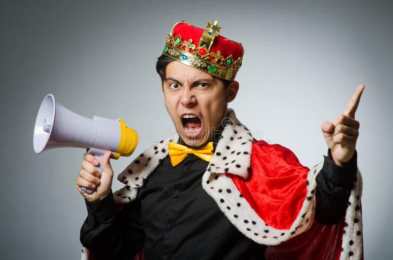 Conceito com homem engraçado fotografia de stock royalty free