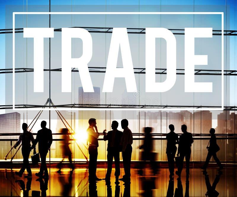 Conceito comercial da mercadoria do mercado de comércio imagem de stock