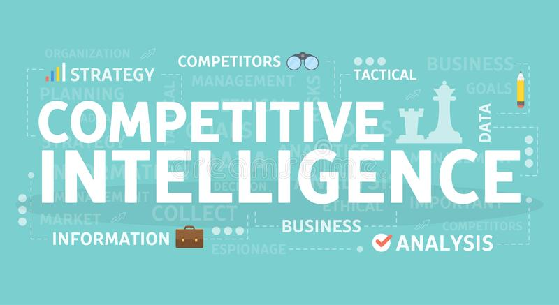 Conceito competitivo da inteligência ilustração royalty free